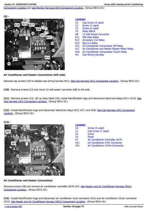 Third Additional product image for - John Deere 130G (iT4/S3B) Excavator Service Repair Manual (TM12351)