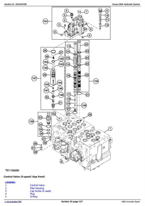 Fourth Additional product image for - John Deere 130G (iT4/S3B) Excavator Service Repair Manual (TM12351)