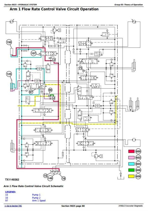 Third Additional product image for - John Deere 245GLC iT4 Excavator Diagnostic, Operation and Test Service Manual (TM12660)