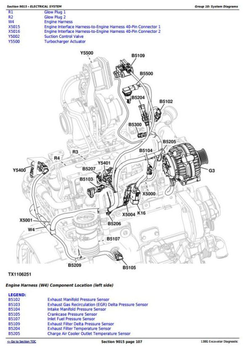 Second Additional product image for - John Deere 130G (iT4/S3B) Excavator (S.N.1FF130GX_E040001) Operation & Test Service Manual (TM12348)