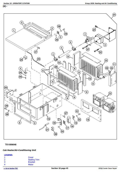 Third Additional product image for - John Deere 1050J Crawler Dozer Service Repair Technical Manual (TM10114)