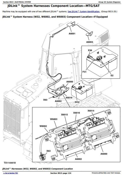Second Additional product image for - John Deere 450J, 550J, 650J Crawler Dozer (S.N.141667-159986) Diagnostic&Test Service Manual (TM10292)