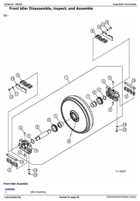 Second Additional product image for - John Deere 450J, 550J, 650J Crawler Dozer (S.N.141667-159986) Service Repair Workshop Manual (TM10294)