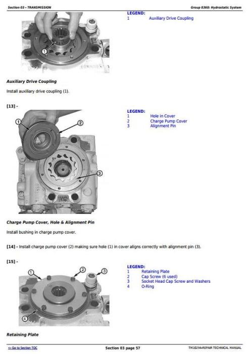 Third Additional product image for - John Deere 450J, 550J, 650J Crawler Dozer (S.N.141667-159986) Service Repair Workshop Manual (TM10294)