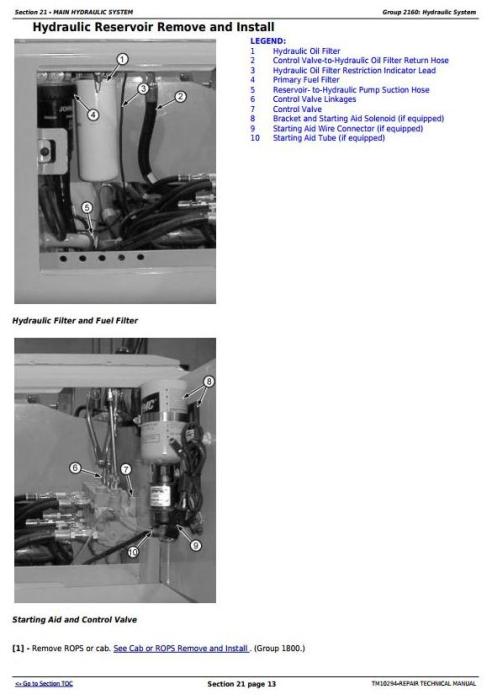 Fourth Additional product image for - John Deere 450J, 550J, 650J Crawler Dozer (S.N.141667-159986) Service Repair Workshop Manual (TM10294)