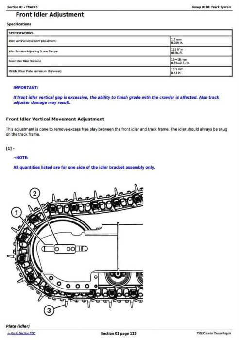 Second Additional product image for - John Deere 750J Crawler Dozer (S.N. 141344-219962) Service Repair Technical Manual (TM10295)
