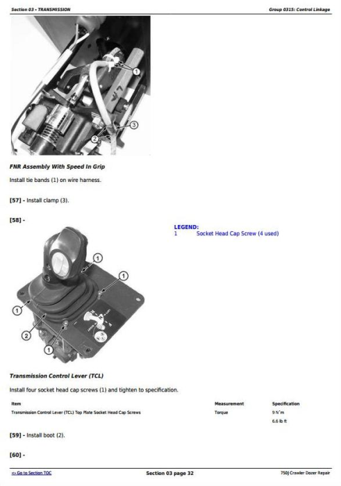 Fourth Additional product image for - John Deere 750J Crawler Dozer (S.N. 141344-219962) Service Repair Technical Manual (TM10295)