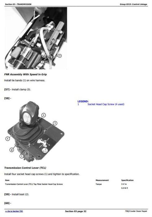 Fourth Additional product image for - John Deere 750J Crawler Dozer (S.N. 141344-219962) Service Repair Technical Manual (TM10295)