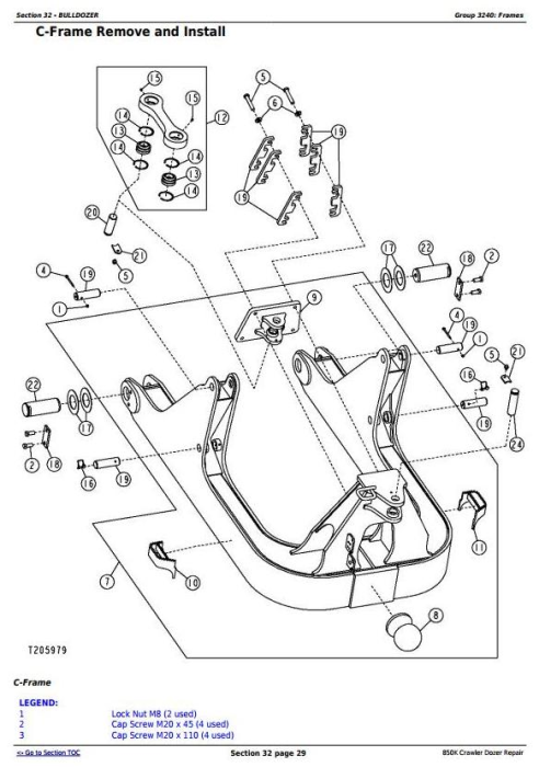 Fourth Additional product image for - John Deere 850K Crawler Dozer (PIN: 1T0850KX_ _E178122—271265) Service Repair Manual (TM12046)