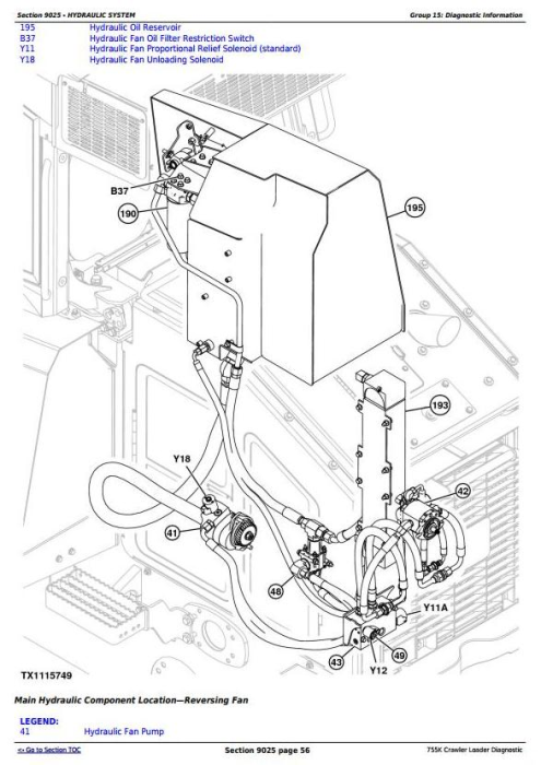Third Additional product image for - John Deere 755K Crawler Loader Diagnostic, Operation and Test Service Manual (TM12049)