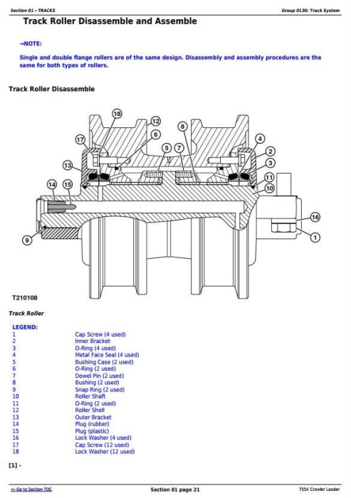 Fourth Additional product image for - John Deere 755K Crawler Loader Service Repair Technical Manual (TM12052)