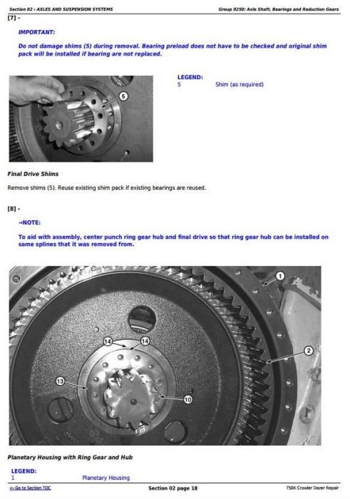 Second Additional product image for - John Deere 750K Crawler Dozer Service Repair Technical Manual (TM12269)