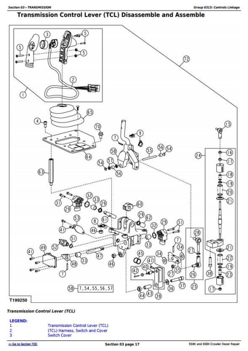 Second Additional product image for - John Deere 550K and 650K Crawler Dozer Service Repair Technical Manual (TM12289)