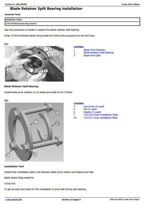 Fourth Additional product image for - John Deere 550K and 650K Crawler Dozer Service Repair Technical Manual (TM12289)