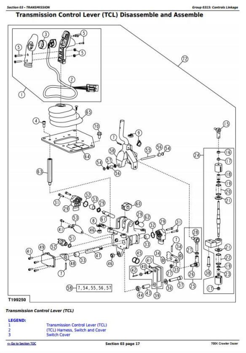 Second Additional product image for - John Deere 700K Crawler Dozer (S.N. 217278-275435) Service Repair Technical Manual (TM12295)