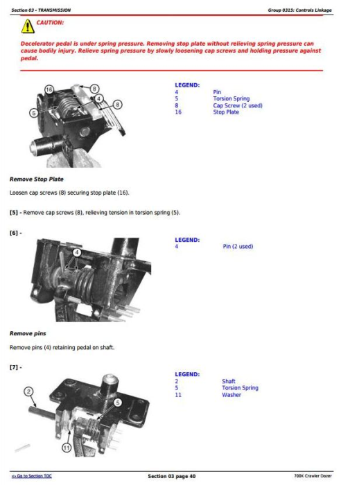 Third Additional product image for - John Deere 700K Crawler Dozer (S.N. 217278-275435) Service Repair Technical Manual (TM12295)