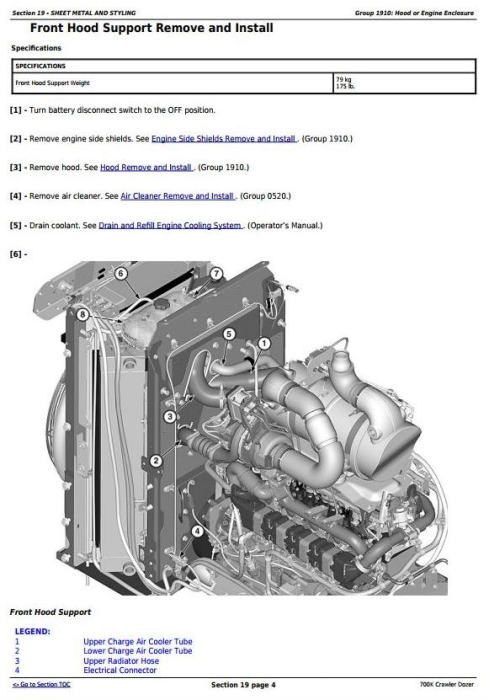 Fourth Additional product image for - John Deere 700K Crawler Dozer (S.N. 217278-275435) Service Repair Technical Manual (TM12295)