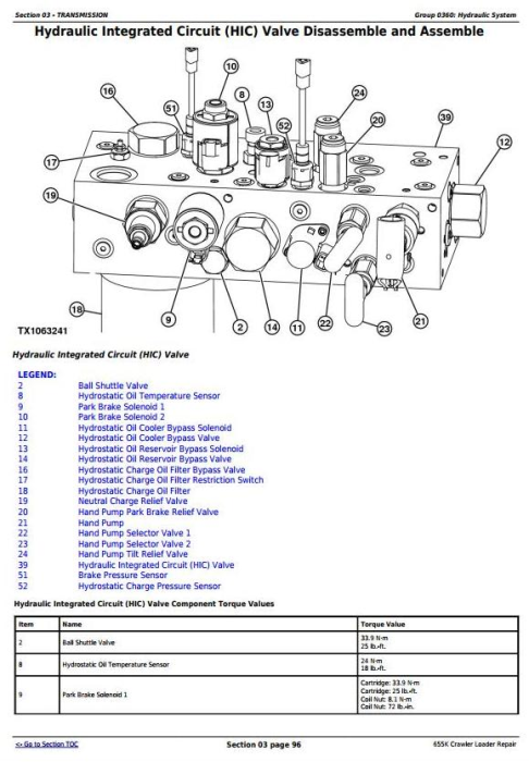 Third Additional product image for - John Deere 655K Crawler Loader Service Repair Technical Manual (TM12721)
