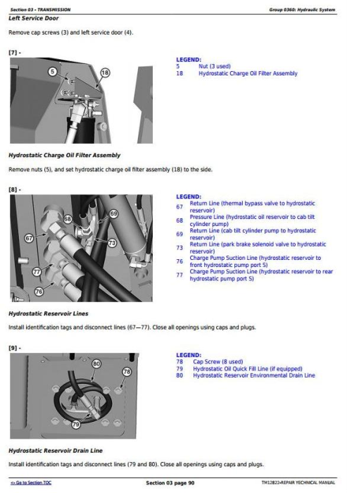 Third Additional product image for - John Deere 605K Crawler Loader (PIN from 1T0605KX**E237629) Service Repair Technical Manual (TM12822)