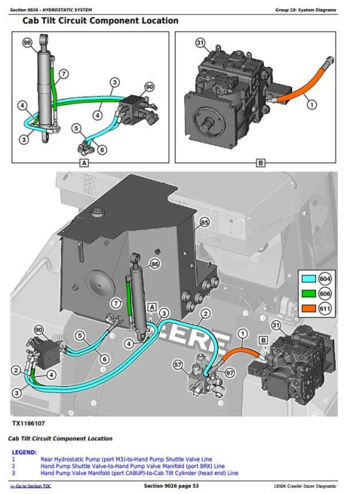 Third Additional product image for - John Deere 1050K Crawler Dozer Diagnostic, Operation and Test Service Manual (TM13601X19)
