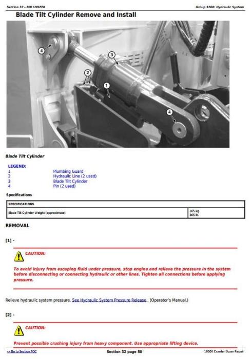 Fourth Additional product image for - John Deere 1050K Crawler Dozer (PIN: 1T01050K**C268234-) Service Repair Technical Manual (TM13602X19)