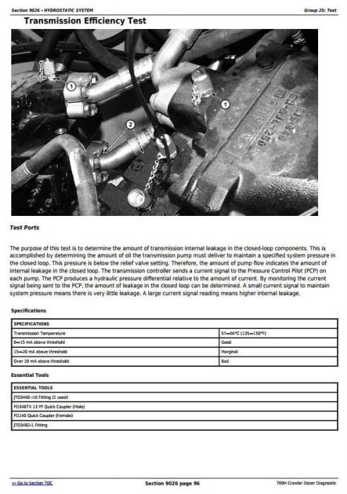 Fourth Additional product image for - John Deere 700H Crawler Dozer Diagnostic, Operation and Test Service Manual (tm1858)