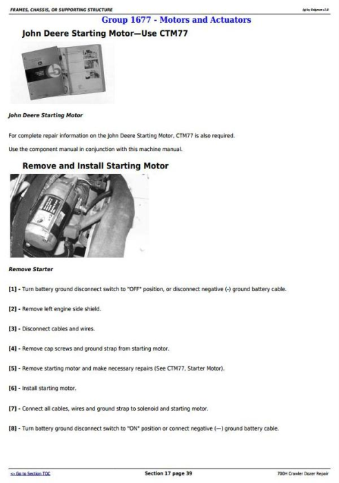 Fourth Additional product image for - John Deere 700H Crawler Dozer Service Repair Technical Manual (TM1859)