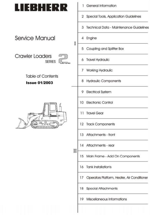 First Additional product image for - John Deere Liebherr Models 622, 632; 655C, 755C Crawler Loaders Service Repair Technical Manual