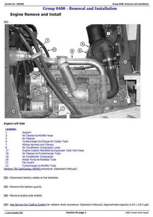 Second Additional product image for - John Deere 950C Crawler Dozer Service Repair Technical Manual (tm2247)