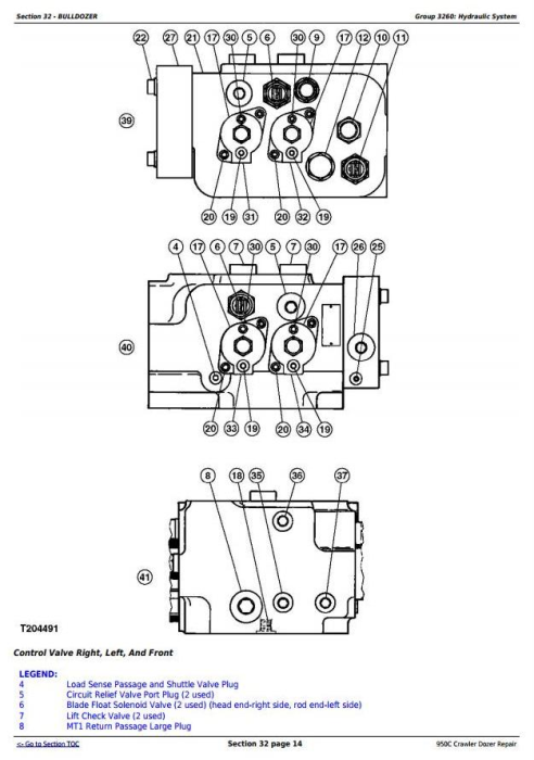 Fourth Additional product image for - John Deere 950C Crawler Dozer Service Repair Technical Manual (tm2247)