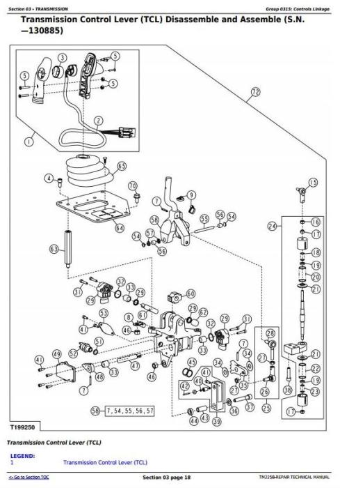 Third Additional product image for - John Deere 450J, 550J, 650J Crawler Dozer (S.N.before 141666) Service RepairTechnical Manual (TM2258)