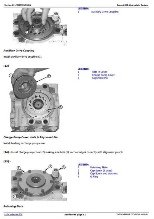Second Additional product image for - John Deere 750J (S.N. -141343) , 850J (S.N.-130885) Crawler Dozer Service Repair Manual (TM2261)