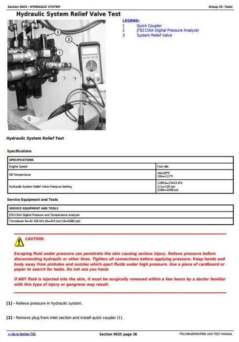 Fourth Additional product image for - John Deere 700J Crawler Dozer (SN before 139435) Diagnostic, Operation & Test Service Manual (TM2290)