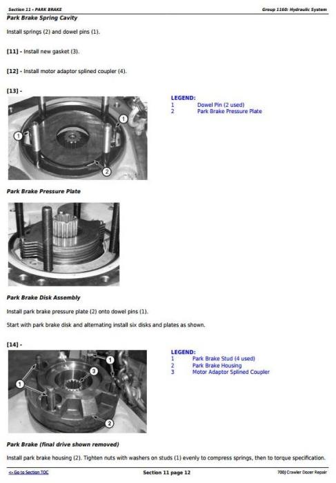 Third Additional product image for - John Deere 700J Crawler Dozer (S.N. before 139435) Service Repair Technical Manual (TM2291)