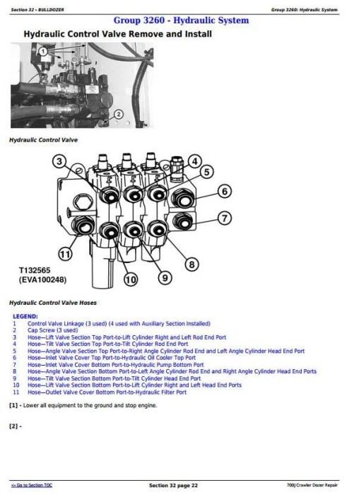Fourth Additional product image for - John Deere 700J Crawler Dozer (S.N. before 139435) Service Repair Technical Manual (TM2291)