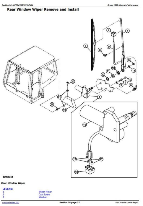 Fourth Additional product image for - John Deere 605C Crawler Loader Service Repair Technical Manual (TM2354)