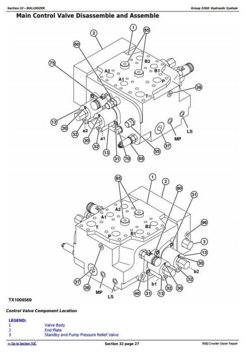 Second Additional product image for - John Deere 950J Crawler Dozer Service Repair Technical Manual (TM2364)