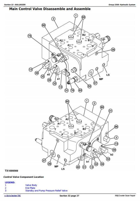 Second Additional product image for - John Deere 950J Crawler Dozer Service Repair Technical Manual (TM2364)