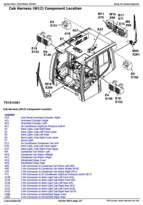 Third Additional product image for - John Deere 755D Crawler Loader Diagnostic, Operation and Test Service Manual (tm2366)