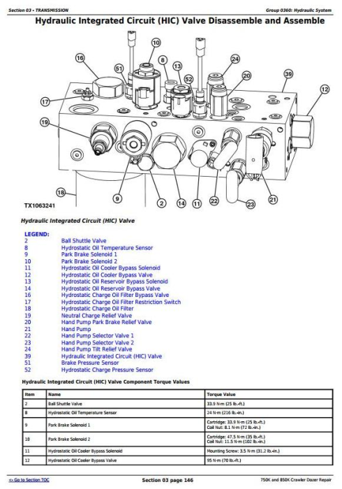 Third Additional product image for - John Deere 750K and 850K Crawler Dozer (PIN:1T0*50KX__F2715**-) Service Repair Manual (TM13282X19)