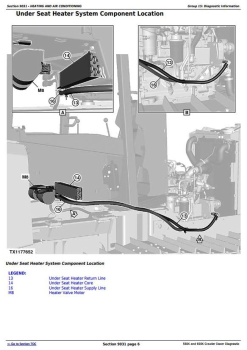 Fourth Additional product image for - John Deere 550K, 650K Crawler Dozer (S.N.from 275977) Diagnostic and Test Service Manual (TM13356X19)