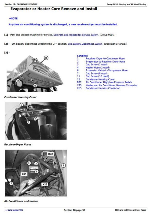 Fourth Additional product image for - John Deere 550K, 650K Crawler Dozer (S.N. from 275977) Service Repair Technical Manual (TM13357X19)