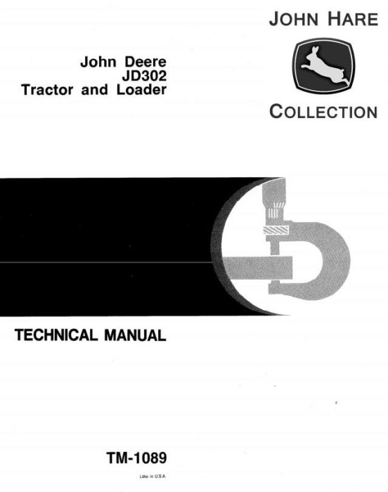 First Additional product image for - John Deere 302 Lawn and Garden Tractor Technical All Inclusive Service Manual (TM1089)