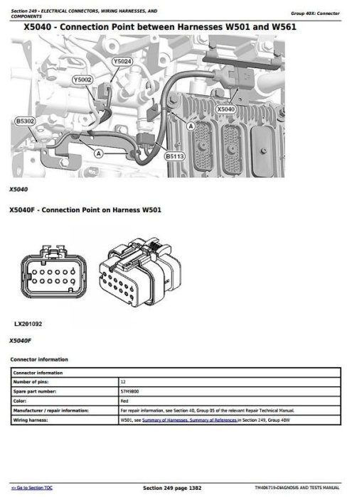 Second Additional product image for - John Deere 6110R,6120R, 6130R, 6135R, 6145R, 6155R, 6175R,6195R, 6215R Tractor Diagnostic Manual TM406719
