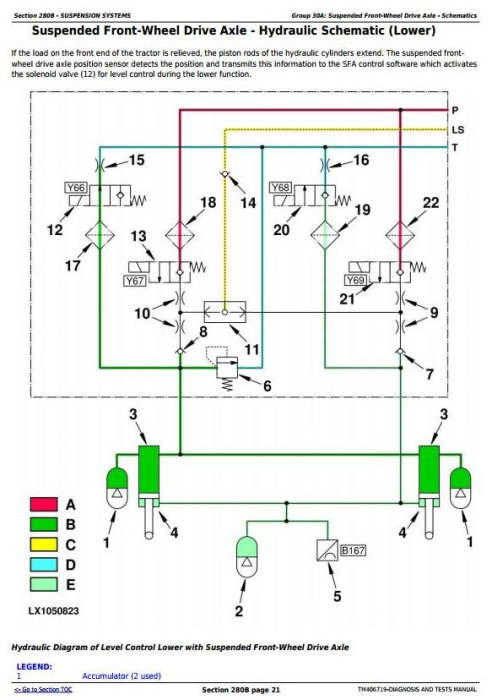 Fourth Additional product image for - John Deere 6110R,6120R, 6130R, 6135R, 6145R, 6155R, 6175R,6195R, 6215R Tractor Diagnostic Manual TM406719