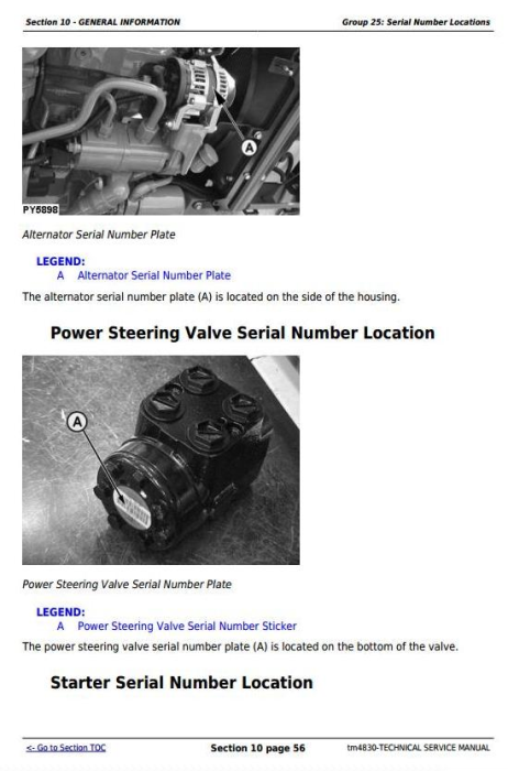 Fourth Additional product image for - John Deere Tractors 5303 and 5403 (India) Service Repair Technical Manual (tm4830)