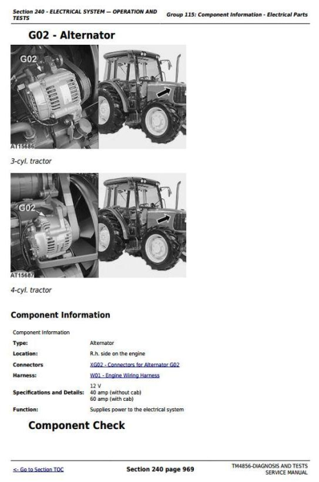 Third Additional product image for - John Deere Tractors 5215, 5315, 5415, 5515 All Inclusive Diagnostic and Repair Service Manual (TM4856)