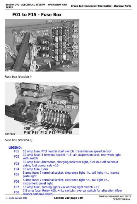 Fourth Additional product image for - John Deere Tractors 5215, 5315, 5415, 5515 All Inclusive Diagnostic and Repair Service Manual (TM4856)