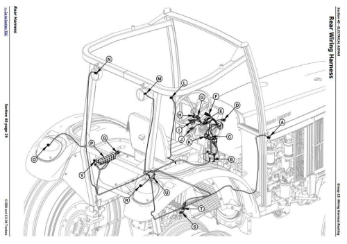 Third Additional product image for - John Deere 6100B and 6110B 2WD or MFWD - China Tractors Service Repair Manual (TM700019)