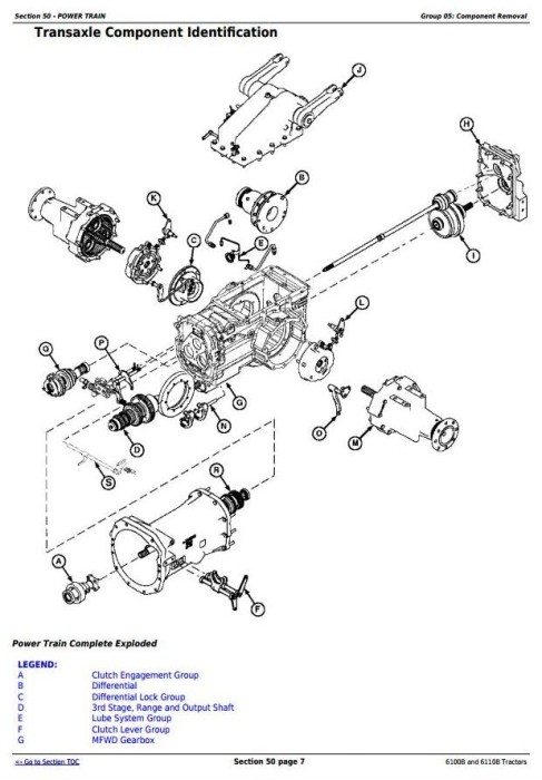 Fourth Additional product image for - John Deere 6100B and 6110B 2WD or MFWD - China Tractors Service Repair Manual (TM700019)